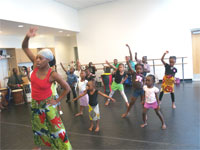 children in dance class