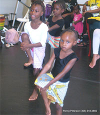 children doing African dance