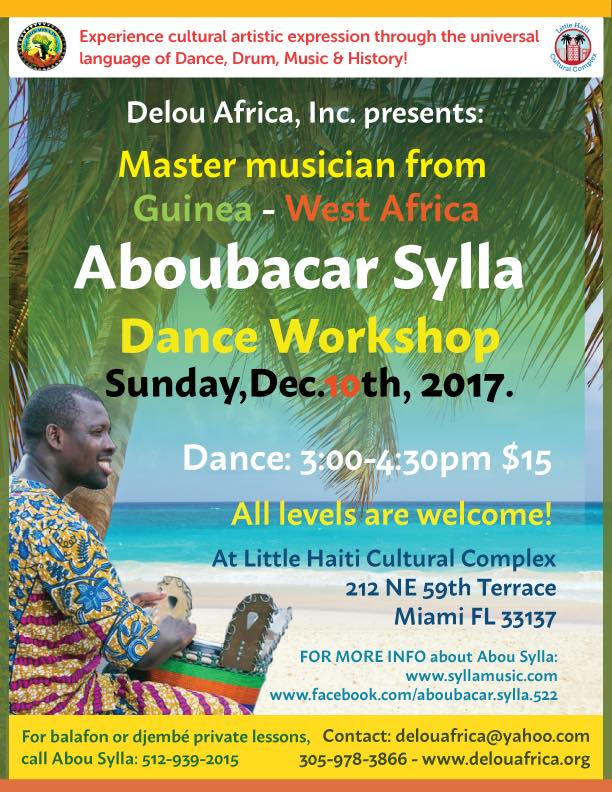 West African Dance Workshop with Aboubacar Sylla @ Little Haiti Cultural Complex
