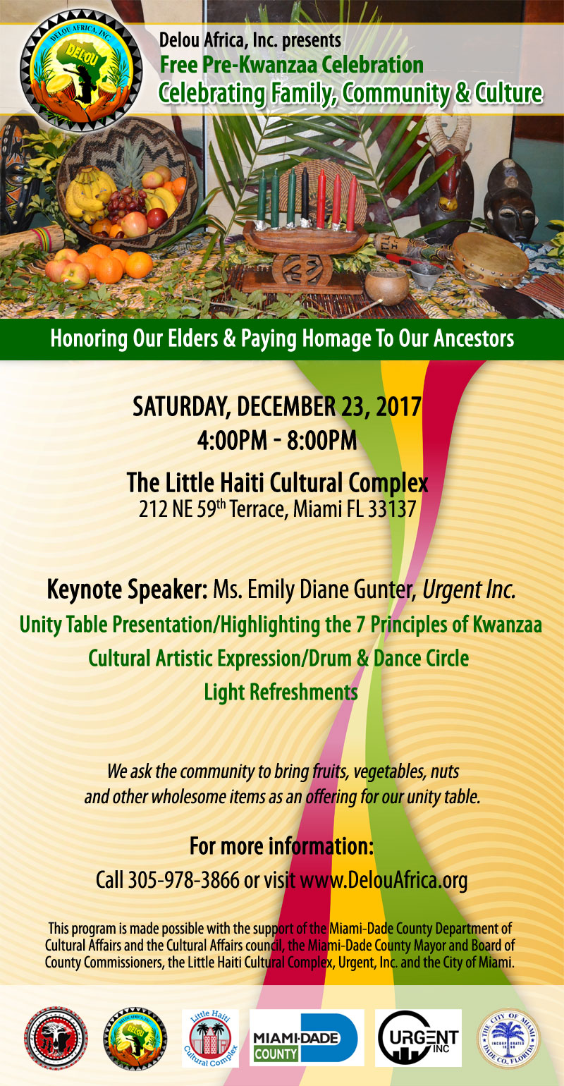 Pre-Kwanzaa Celebration @ Little Haiti Cultural Complex
