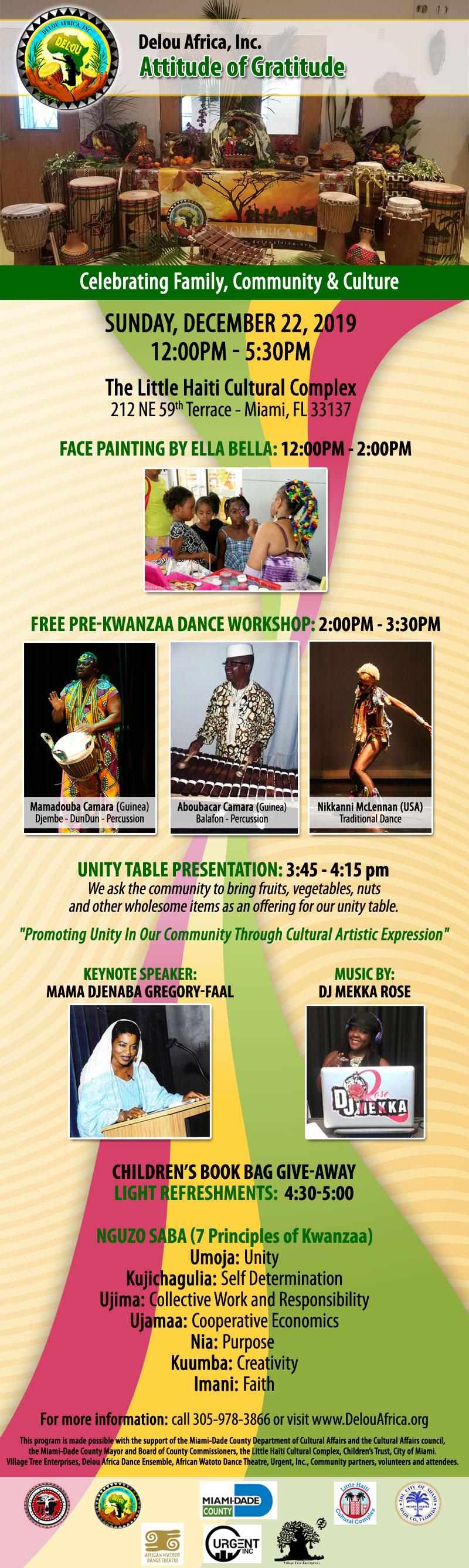 Attitude of Gratitude Kwanzaa Event @ Little Haiti Cultural Complex