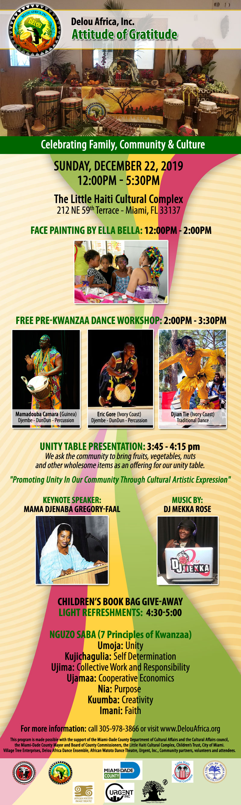 Kwanzaa event flyer