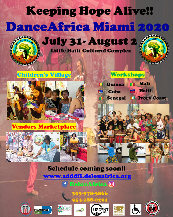 2020 Dance Africa Miami save the date flyer