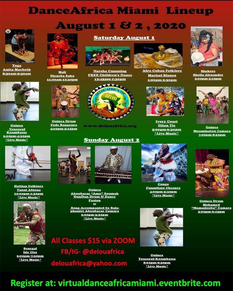 2020 Dance Africa Miami flyer
