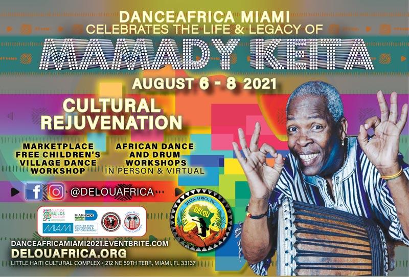 2021 Dance Africa Miami flyer